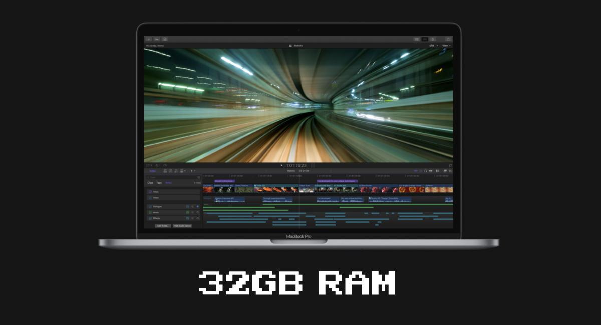 32GBのRAM搭載