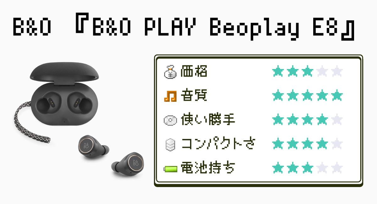 かっこよすぎて泣ける!『Beoplay E8』