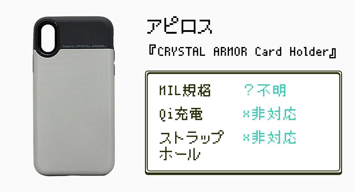 6.盗賊の七つ道具?|アピロス『CRYSTAL ARMOR Card Holder』