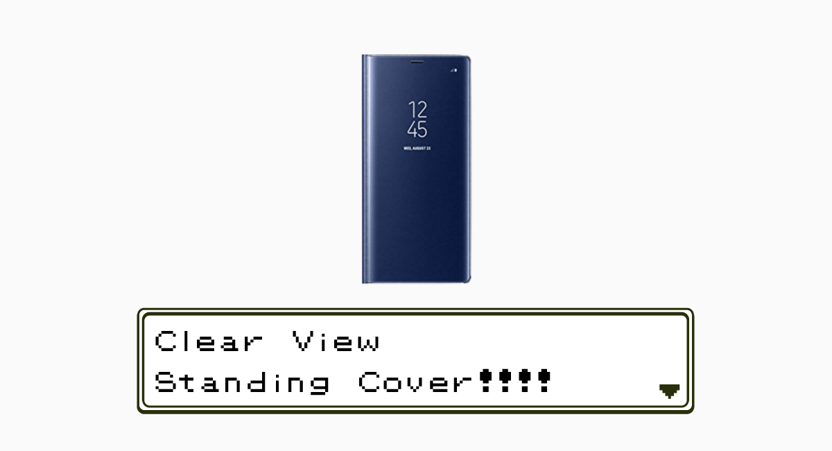 Galaxy Note8用『Clear View Standing Cover』