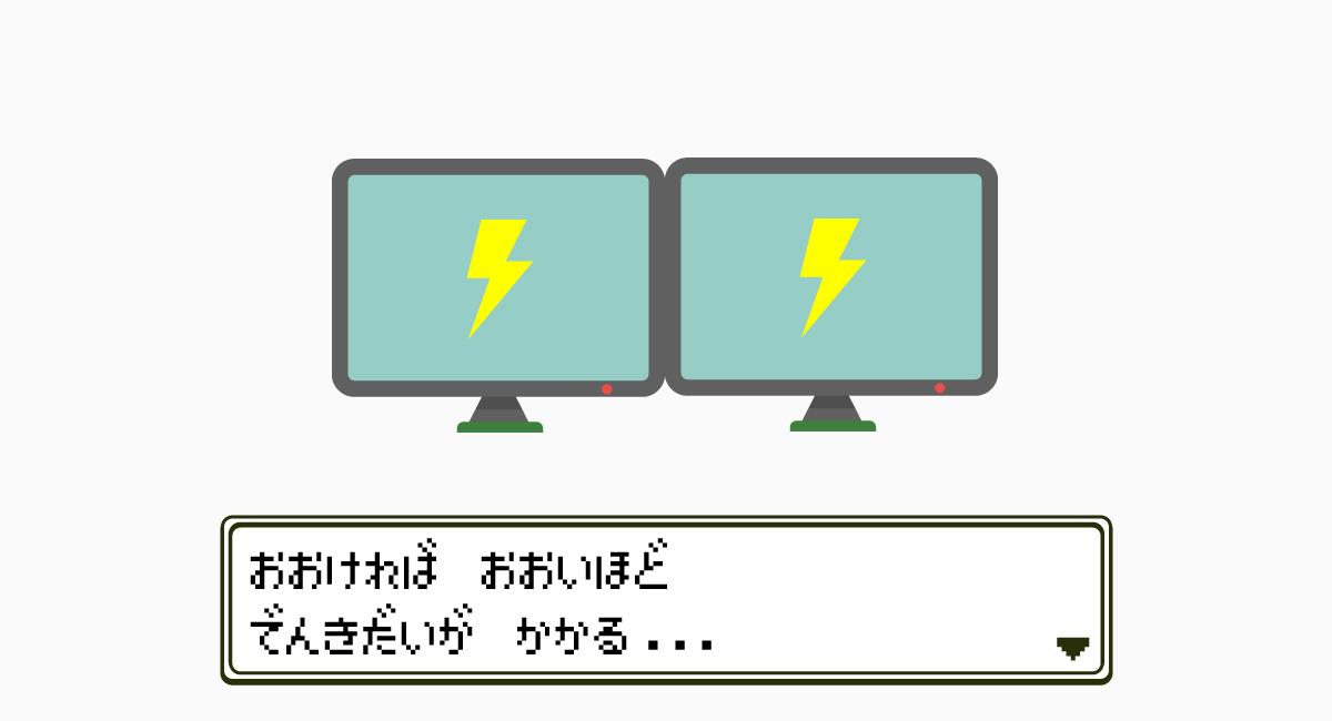 1.電気代が掛かる