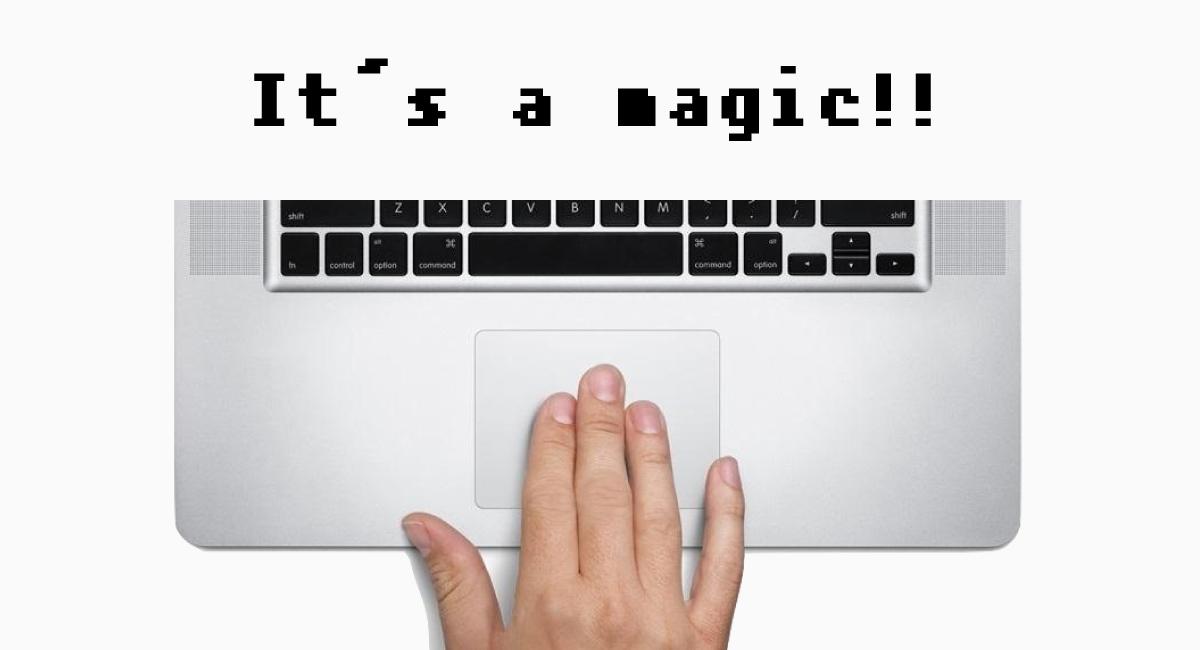 """Macユーザーおなじみの""""3本指のドラッグ"""""""