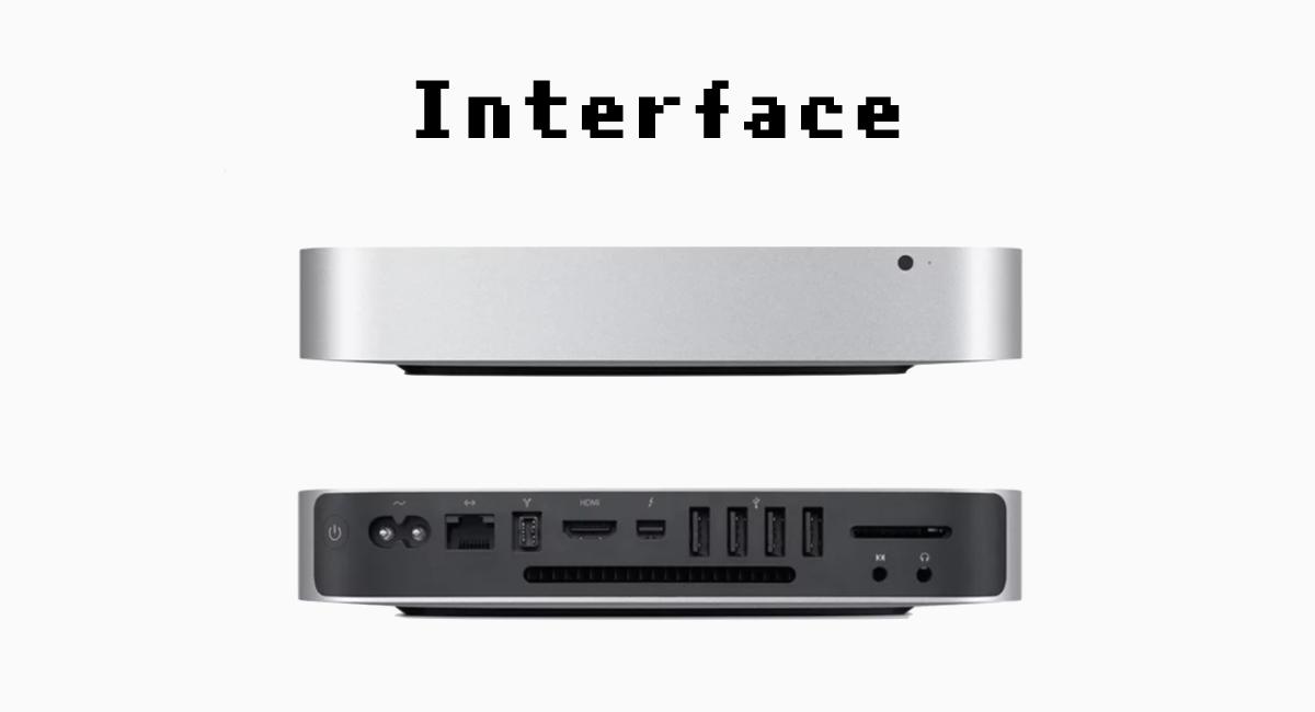 新型『Mac mini』のインターフェース