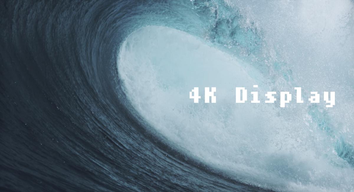 2.ディスプレイの解像度は4K