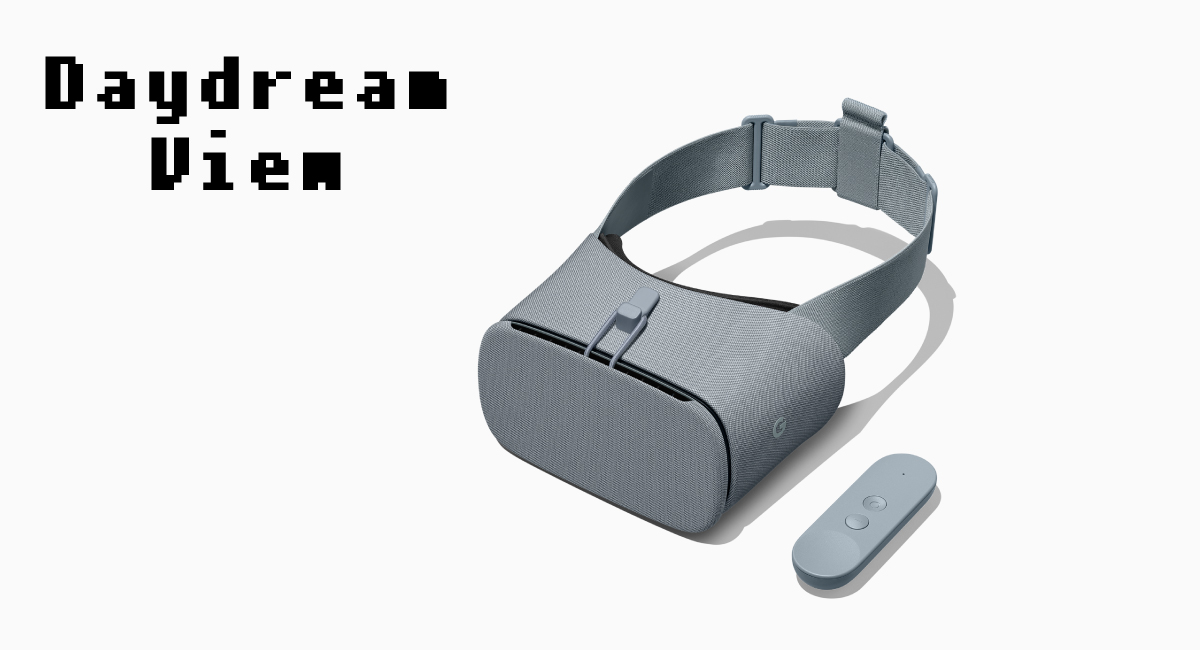 『Daydream View』はスマホを装着して利用する。