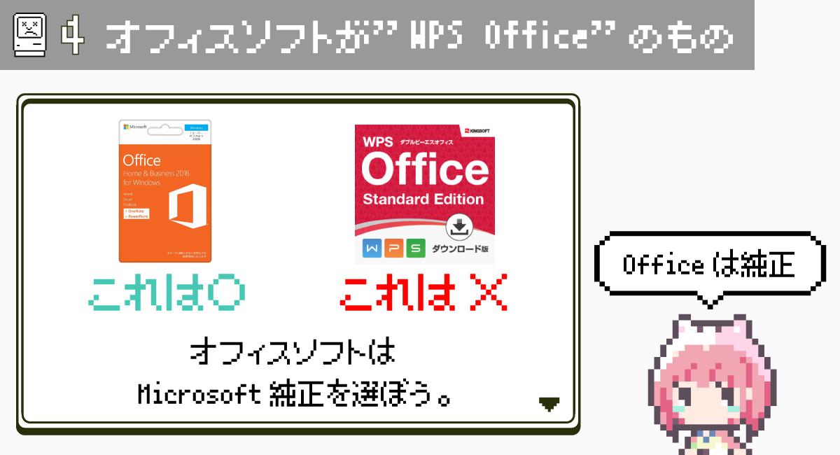 """第4条.オフィスソフトが""""WPS Office""""のもの"""