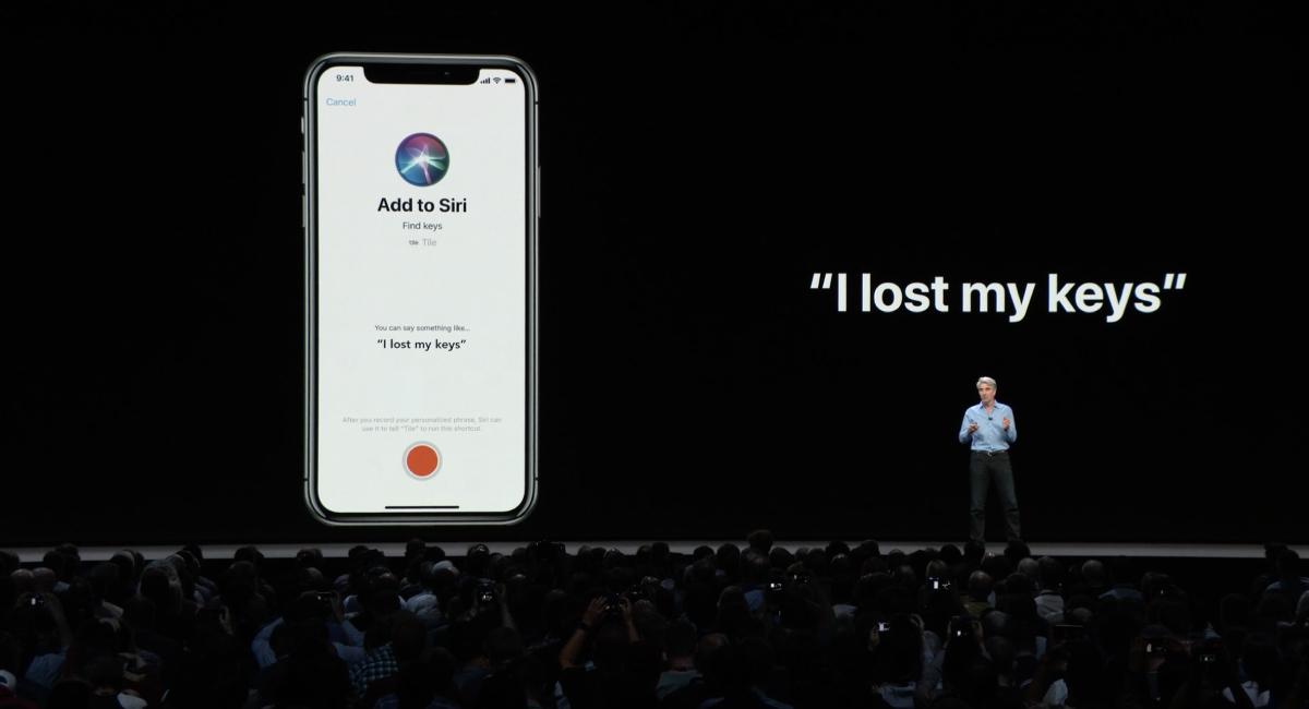 デモでは、「I lost my keys(鍵をなくした)」と言うと、Tileアプリが起動するように設定していました。