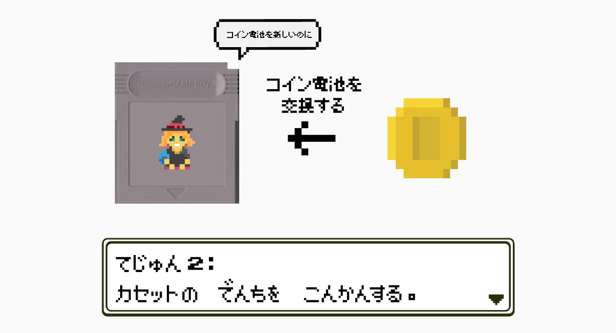 手順2.ゲームボーイのカセットの電池を交換する。