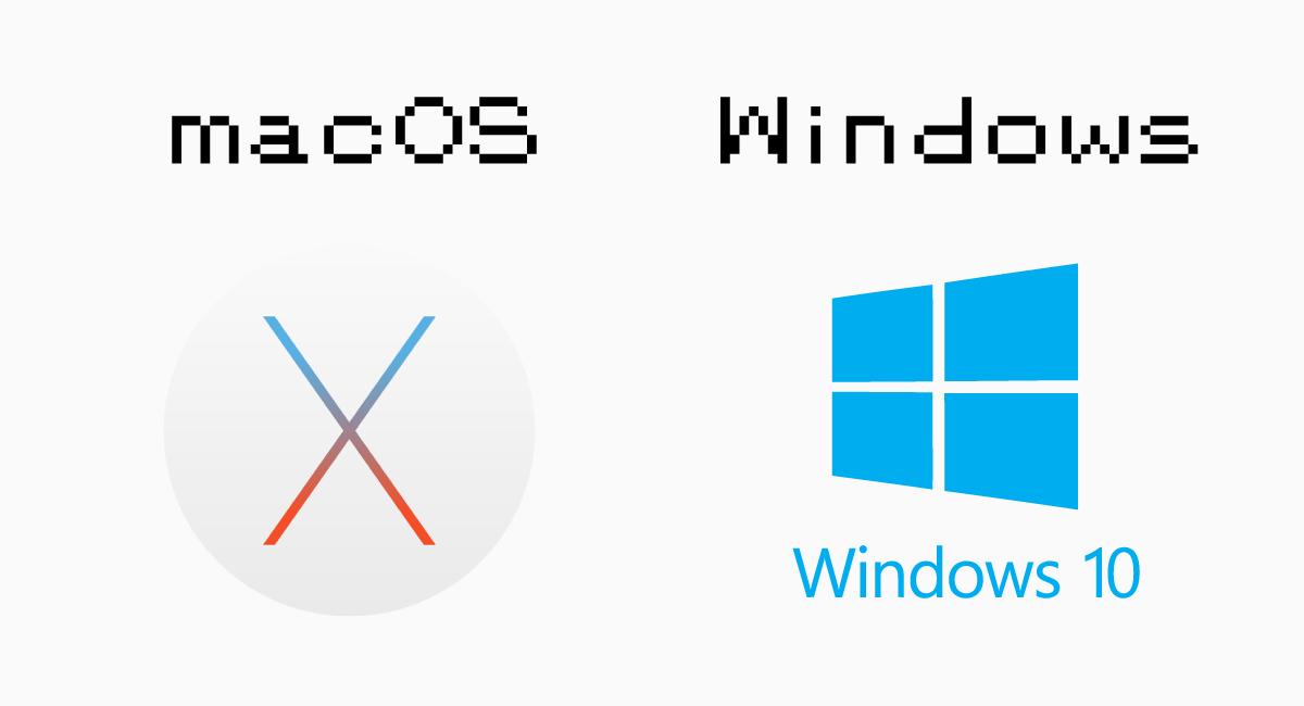 macOSとWindowsも、また設計思想が異なるのか。