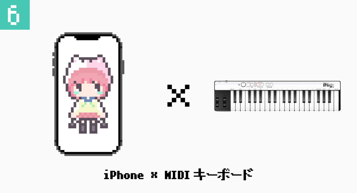 6.iPhone × MIDIキーボード