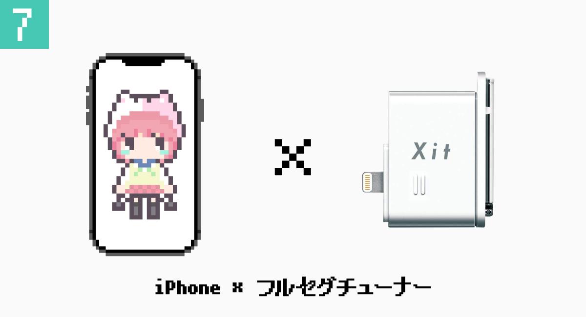 7.iPhone × フルセグチューナー