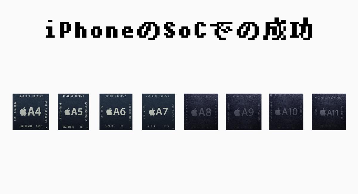 iPhoneのSoCでの成功