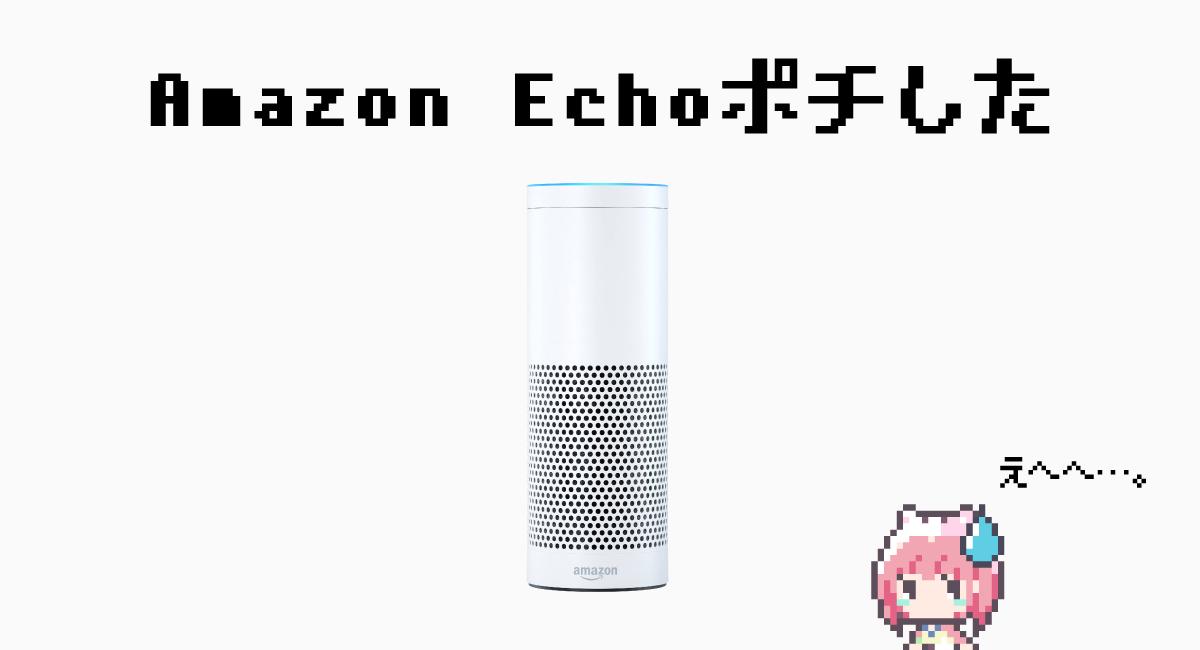 『Amazon Echo』買ってしまったの巻