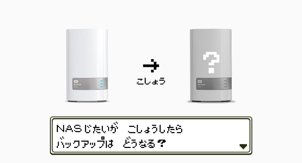 RAID1は、NASの故障には対処できない。