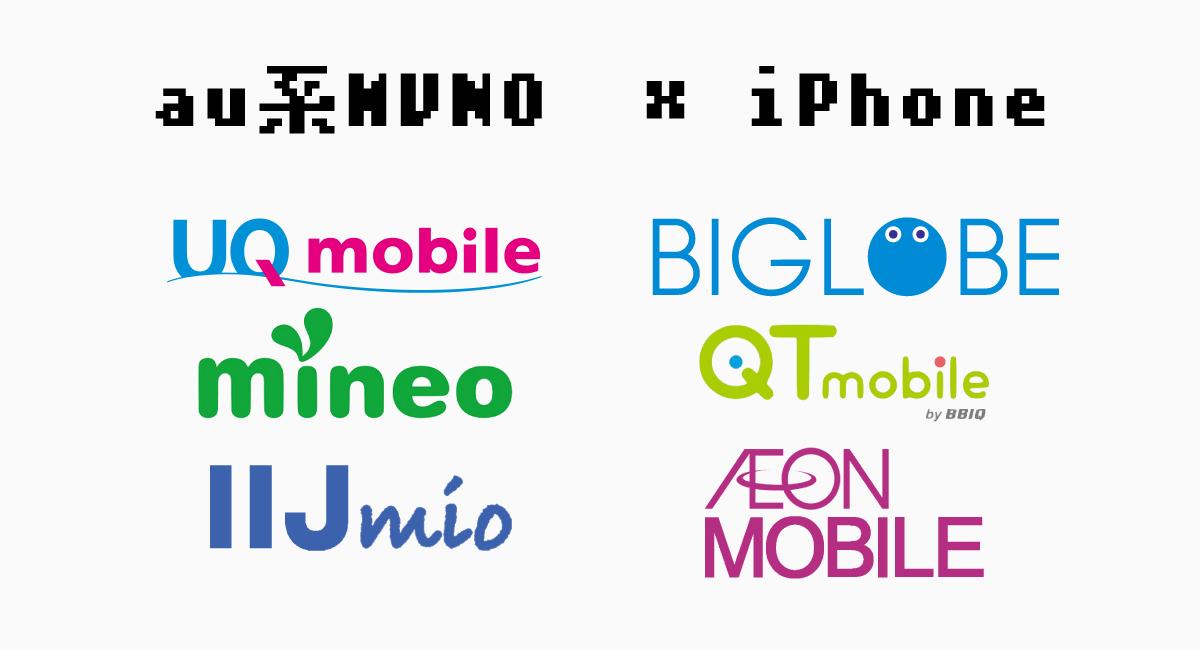 au系MVNOでのiPhoneテザリング対応状況