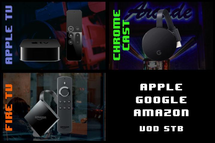 Apple TV vs Chromecast vs Fire TV—比較表&視聴可能サービスの違い