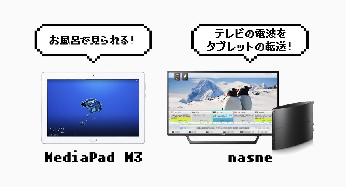 Sonyの『nasne』を使って、お風呂テレビを実現!