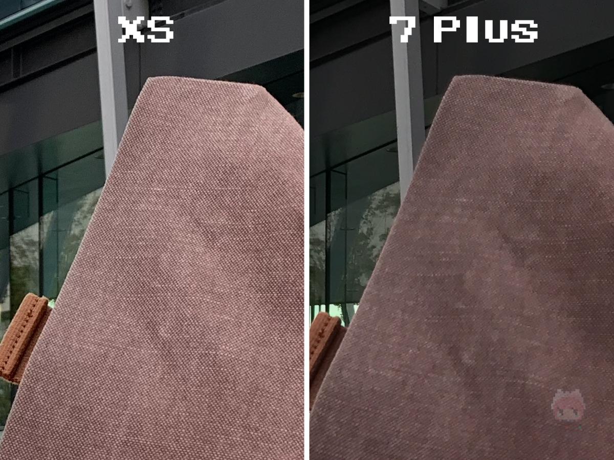 比較するとiPhone XSの解像度に脱帽。