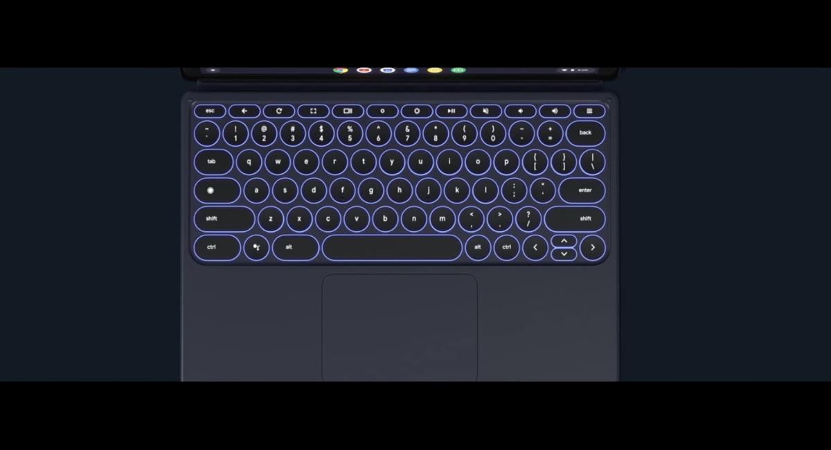 専用キーボード『Pixel Slate Keyboard』には、トラックパッドがある。