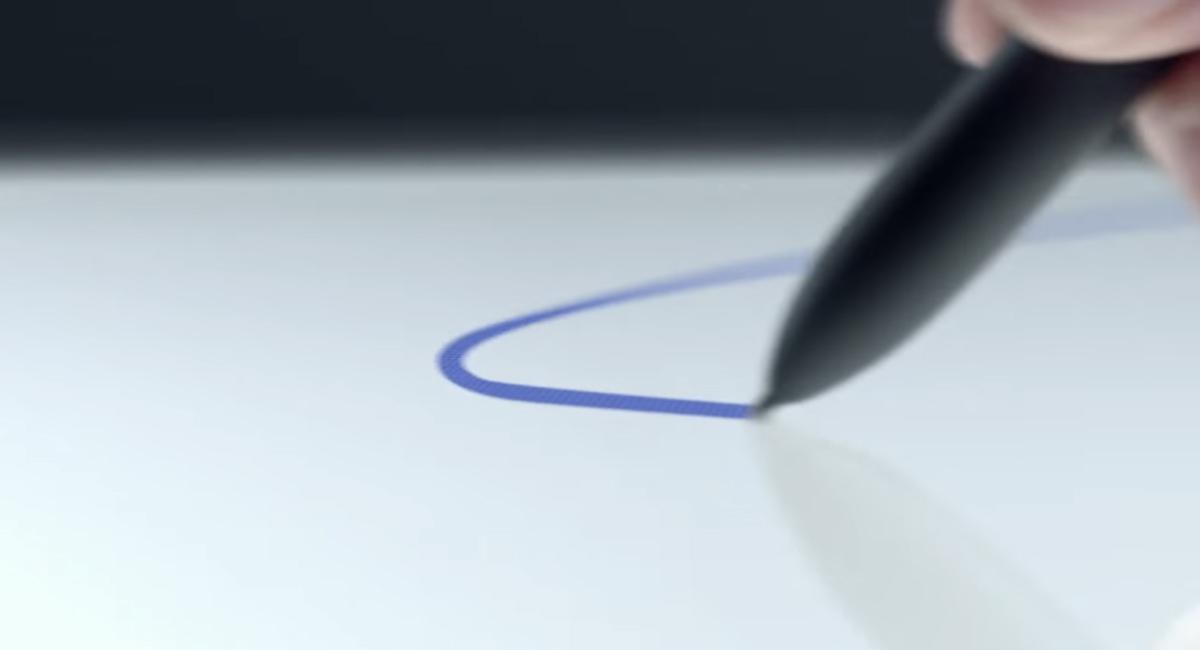 デジタイザーペン『Pixelbook Pen』は、Apple Pencilに近い模様。
