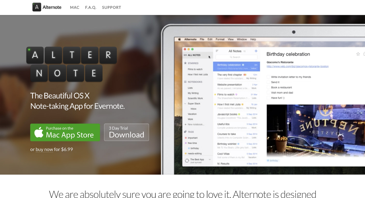Evernoteと連携して使う、『Alternote』というマークダウンエディター。