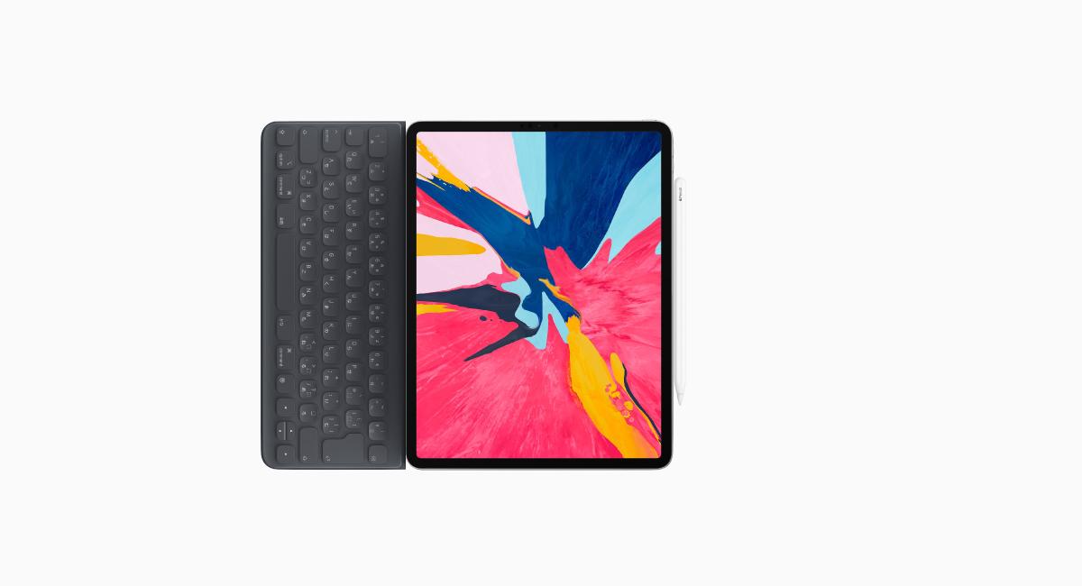 『iPad Pro 2018』に、純正アクセサリーを装着するとこうなる…はず。