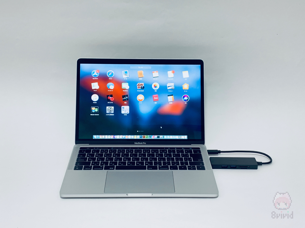 MacBook Proに接続してみました。