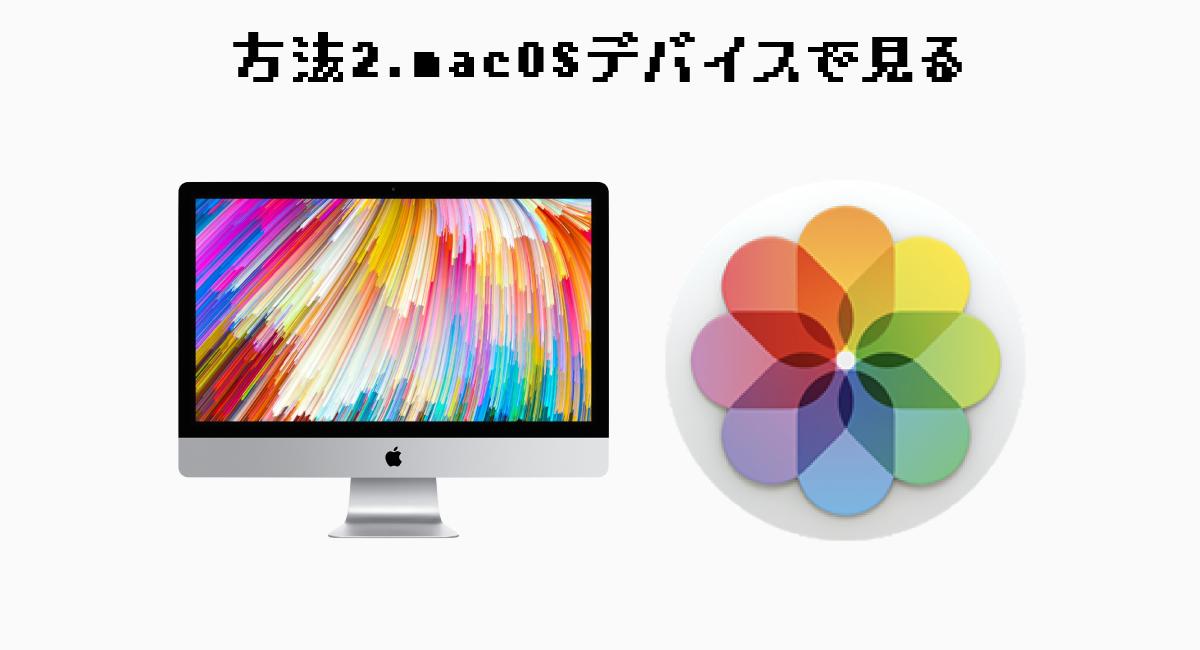 方法2.macOSデバイス(MacBook・iMac)で見る