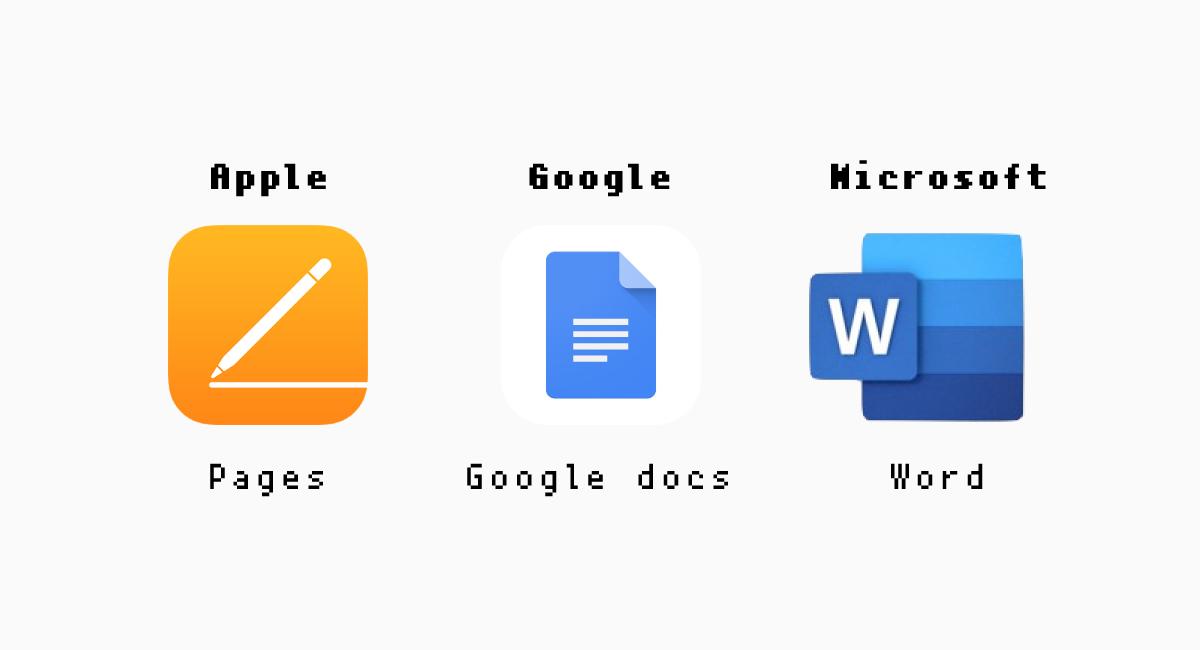 AppleとGoogleとMicrosoft