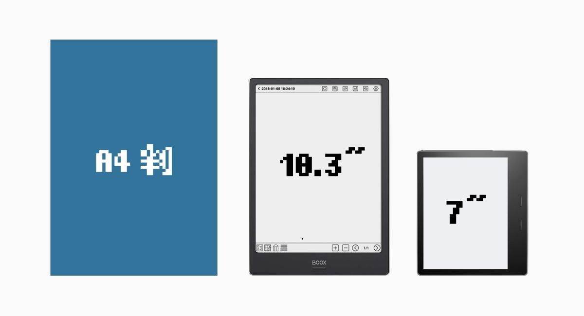 ほぼA5サイズの画面を持つ『BOOX Note Plus』。