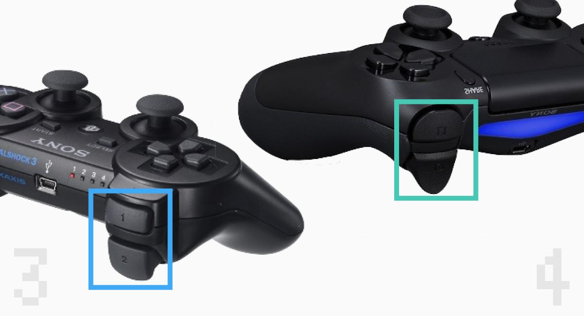 """新旧PCコンの""""LRボタン""""形状比較。"""