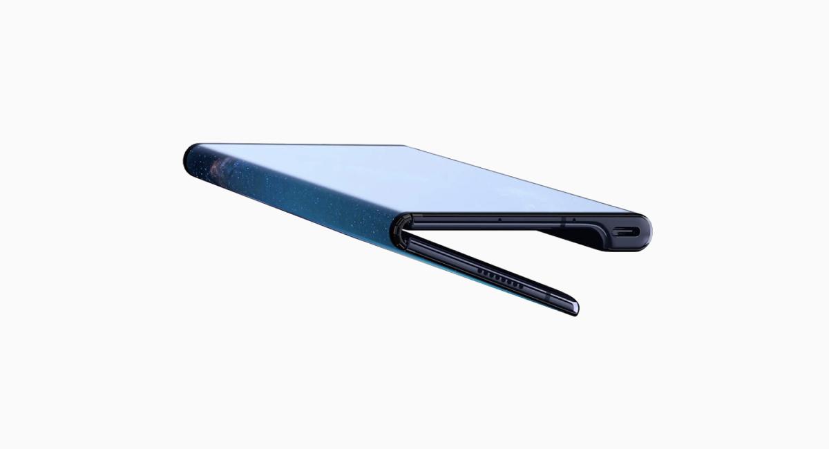 『Galaxy Fold』と違い、外開きディスプレイ。