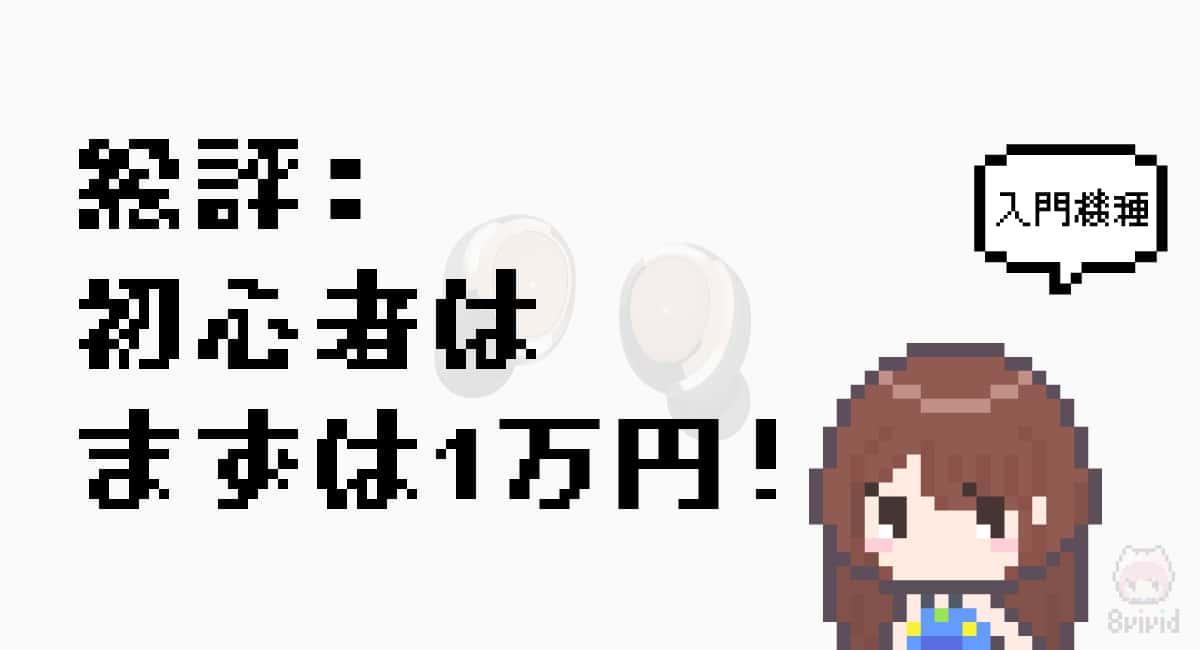 総評「初心者はまずは1万円台からでOK!」