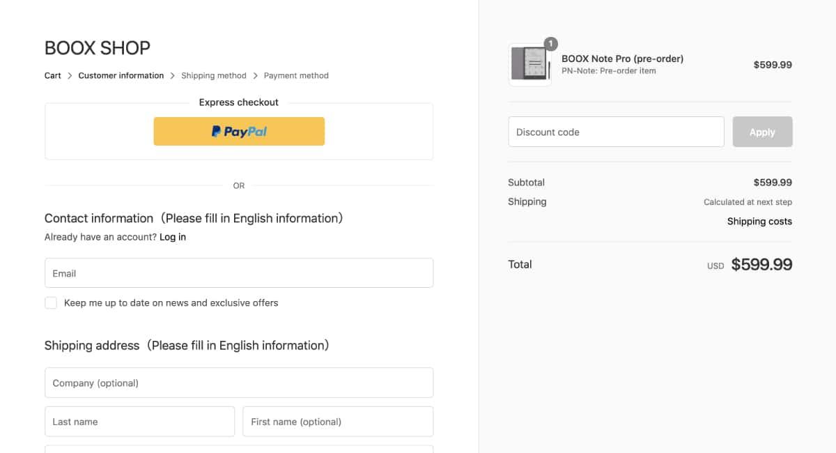 PayPal決済にも対応。