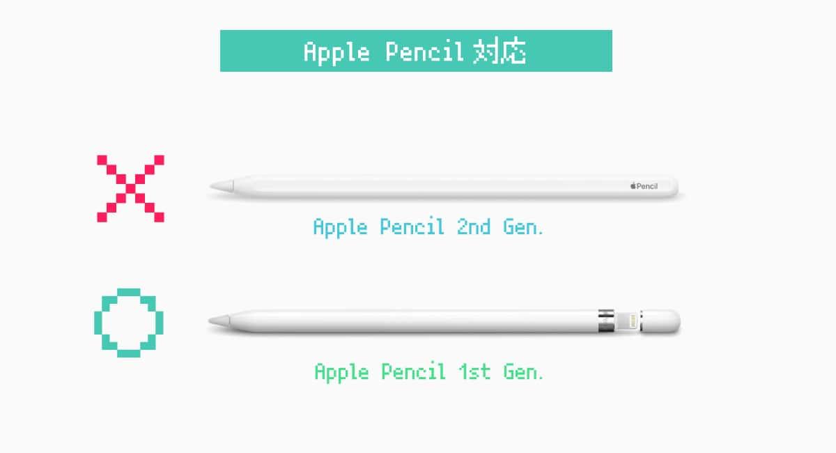 "iPad mini(2019)で使えるApple Pencilは""初代""のもの。"