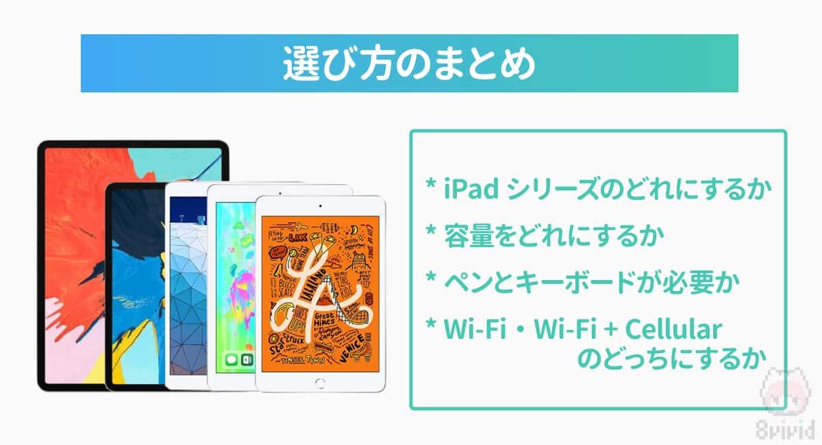 iPad選び方のまとめ
