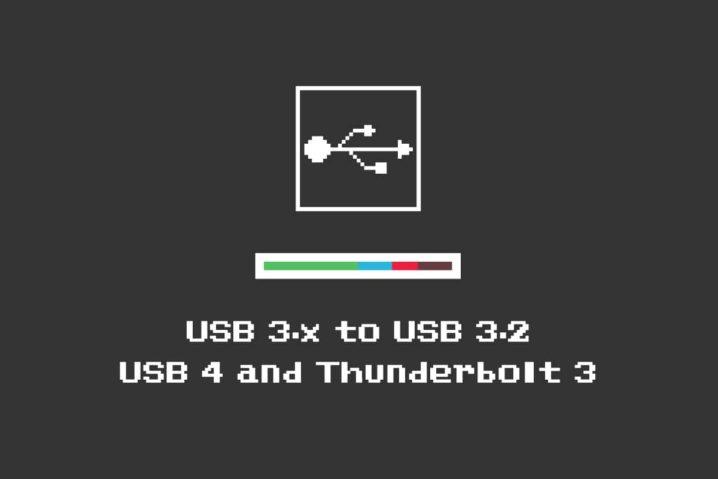 まとめた。USB 3.0/3.1/3.2は『USB 3.2』・Thunderbolt 3は『USB 4』って…ややこしいぞ!