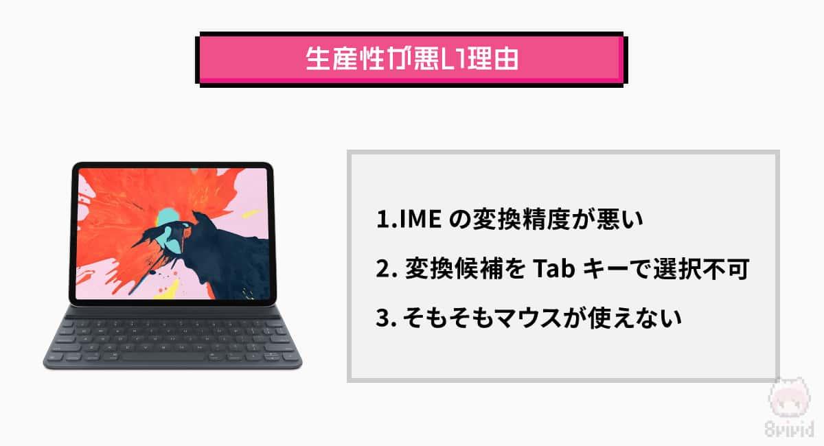 iPad+Bluetoothキーボードでは生産性が悪い理由