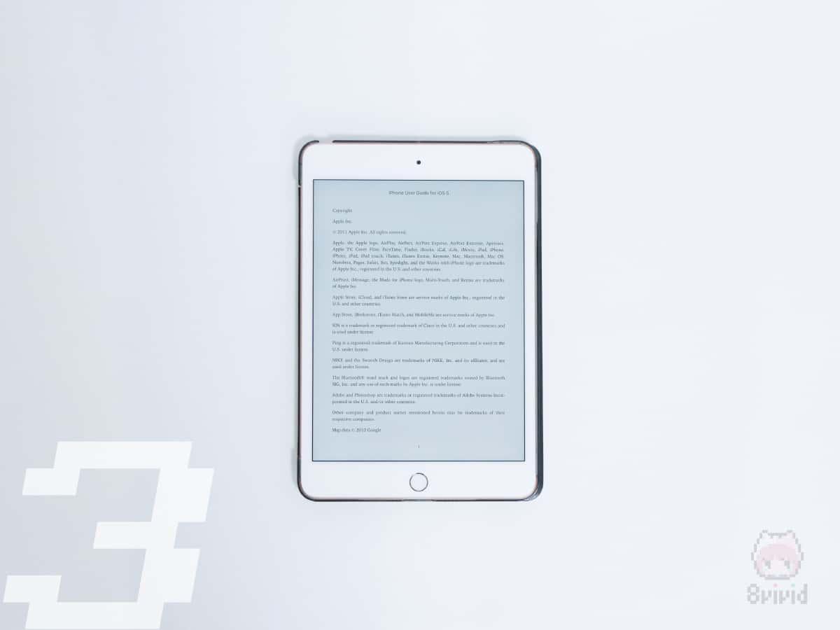 電車でKindle読書なら、iPad miniのサイズが良き。