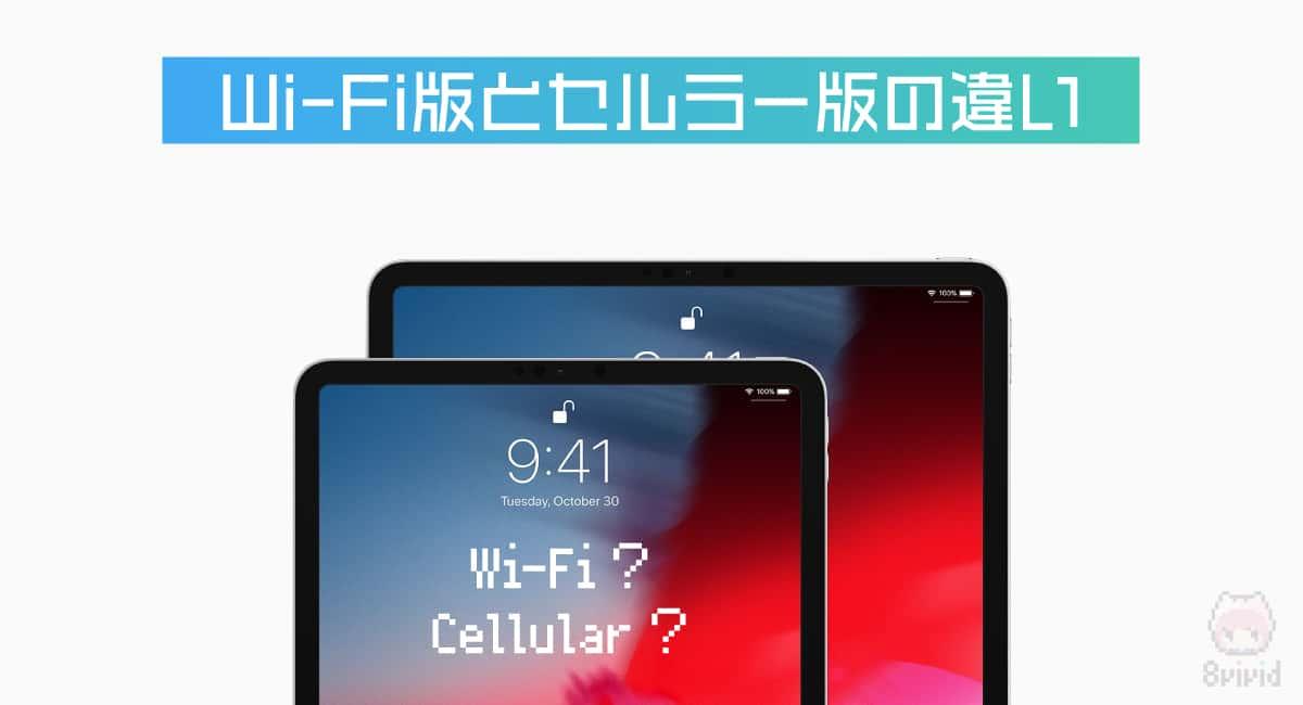 Wi-Fi版とセルラー版の違い