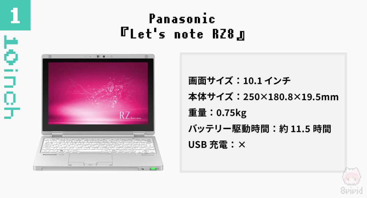 【10インチ|1】Panasonic『Let's note RZ8』