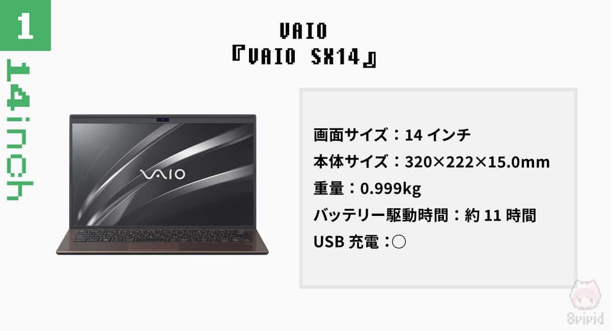 【14インチ|1】VAIO『VAIO SX14』