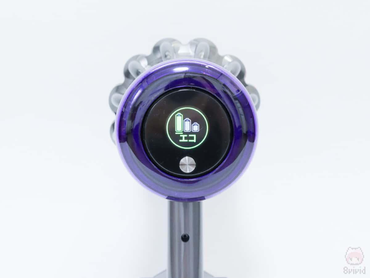 選択してるモードや電池残量が表示されて便利。