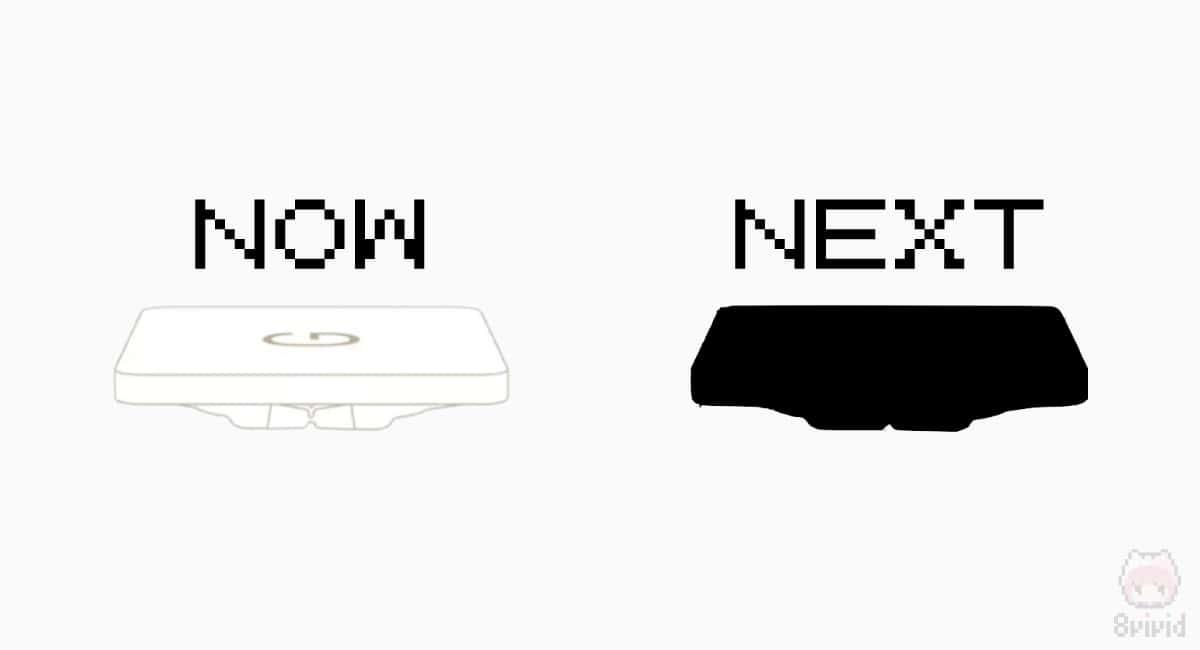 新型バタフライキーボードは構造を改良