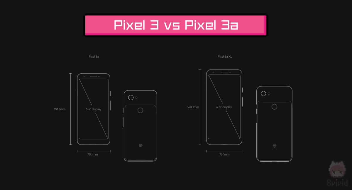 Google『Pixel 3』vs『Pixel 3a』スペック比較