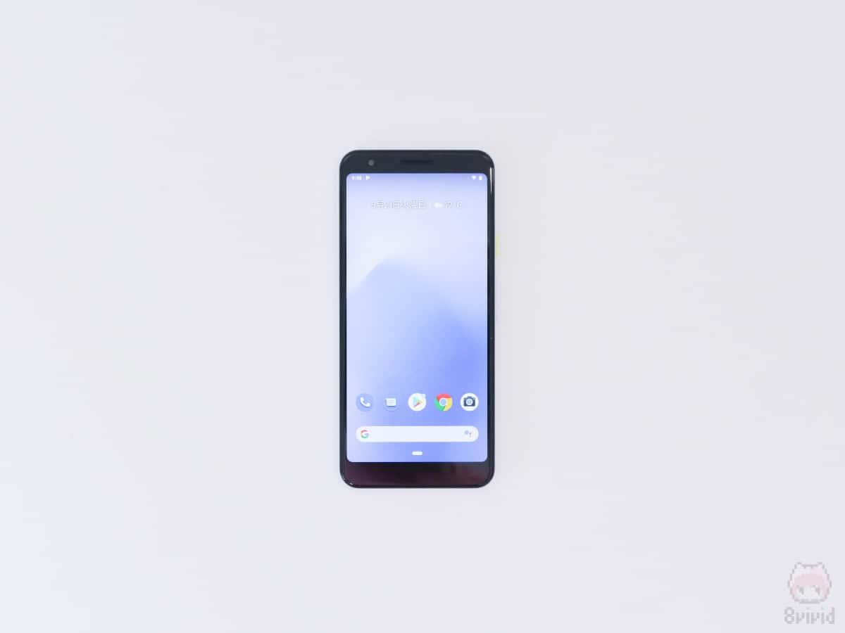Google『Pixel 3a』表面。