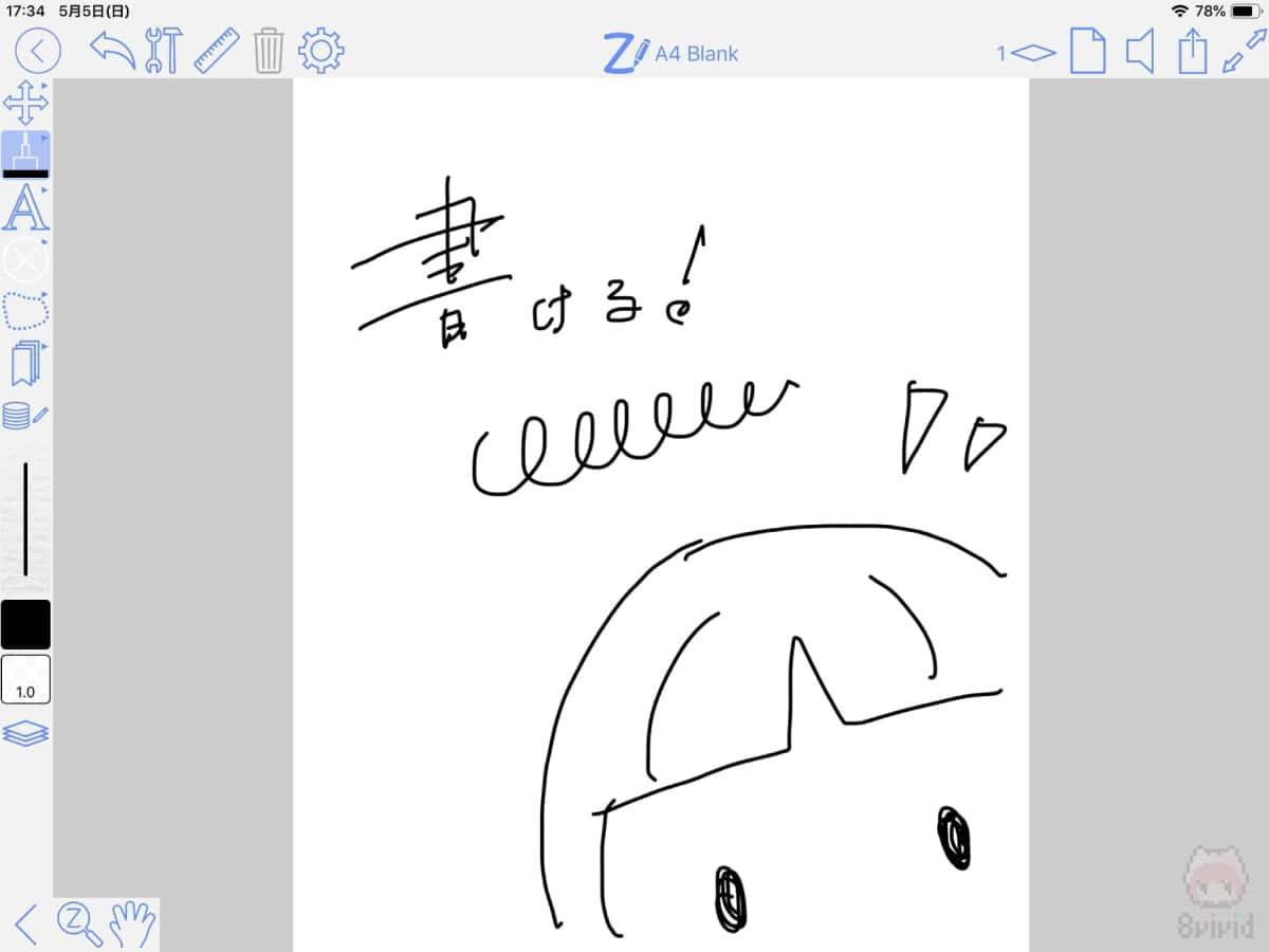ノートアプリ『ZoomNotes』で書いてみた。
