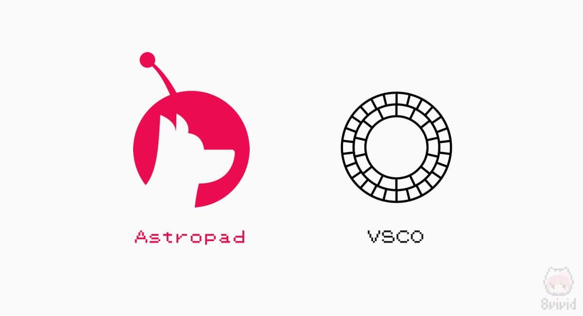 ミラーリングアプリ『Astropad』と画像加工アプリ『VSCO』。