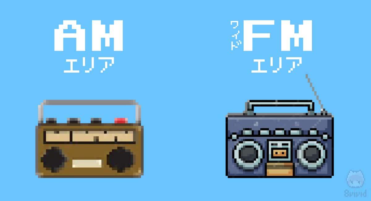 ワイドFMのエリア