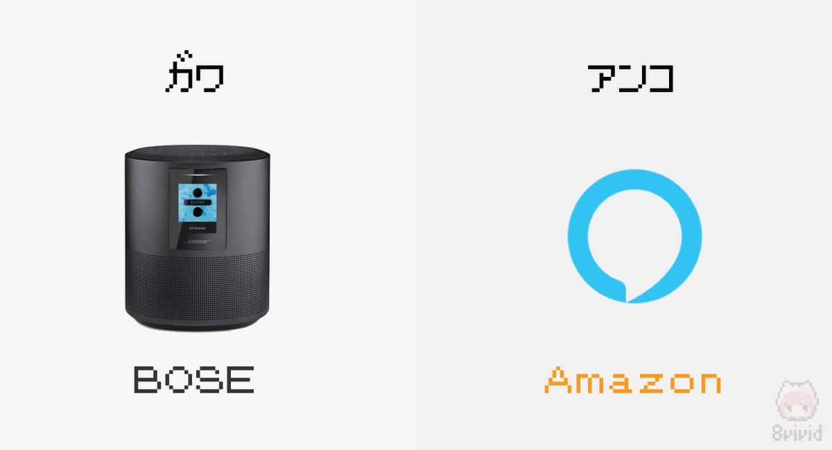Bose Home Speaker 500のAI部分はAmazon製のAlexa。